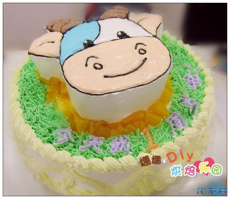 可爱娃娃头像蛋糕