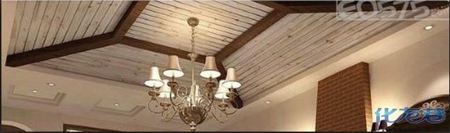 美式杉木板吊顶