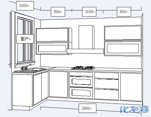 l型橱柜的尺寸怎么算?