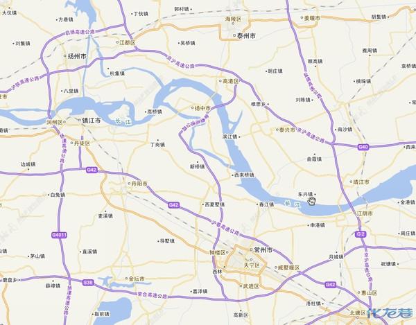 求常州过泰州长江大桥到泰州详细路线图