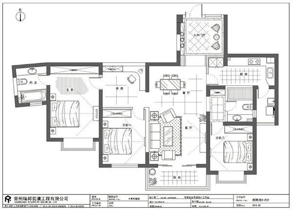 设计风格:欧式风格 设计理念:优雅的白色起框线条搭配米灰色欧式墙纸