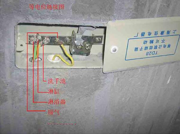 柜式强电箱插座接线图